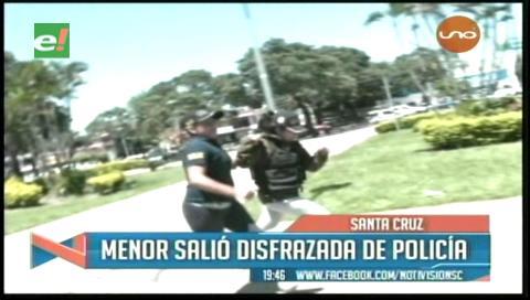Adolescente acusada de asesinato fue sacada vestida de policía tras su audiencia