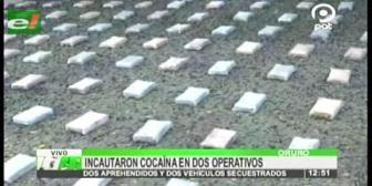 Policía incauta 200 paquetes de cocaína en dos operativos en Oruro
