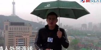 """Viral: Un rayo alcanza al """"hombre del tiempo"""" en China"""