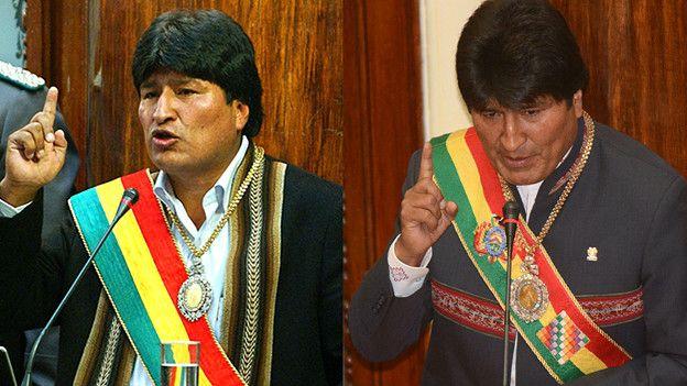 Evo Morales 2006 y 2015