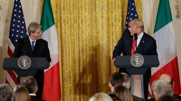 Paolo Gentiloni y Donald Trump, en la Casa Blanca (Reuters)