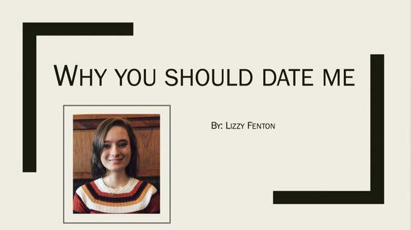La portada de la presentación viral de Lizzy Fenton