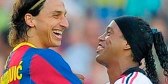 El alentador mensaje de Ronaldinho a Ibrahimovic