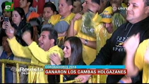 """Cambas Holgazanes coronadores del carnaval 2018 con su proyecto """"Ciudad de los anillos"""""""
