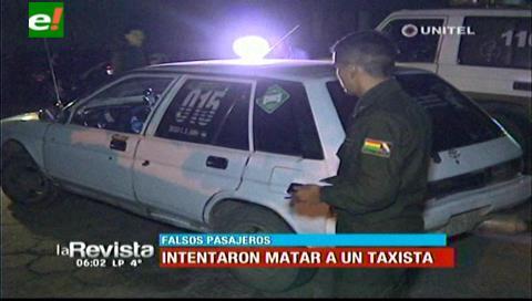 Investigan atraco e intento de homicidio contra un taxista