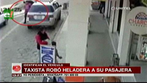 Taxista robó la heladera de una pasajera en la zona de Los Pozos