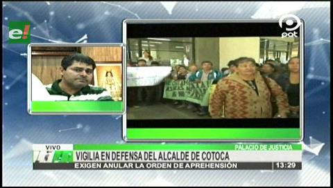 """Seguidores de Wilfredo """"Coco"""" Añez protestan en el Palacio de Justicia"""