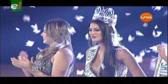 Yasmín Pinto es la Miss Santa Cruz 2017