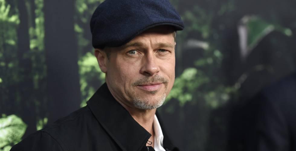 Brad Pitt llegando al estreno de
