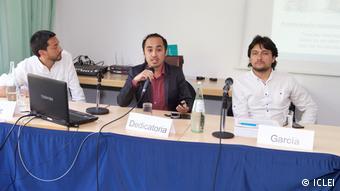 Deutschland Bonn - Globales Forum - Resilient Cities 2017 Podium mit Diego Garcia (ICLEI)
