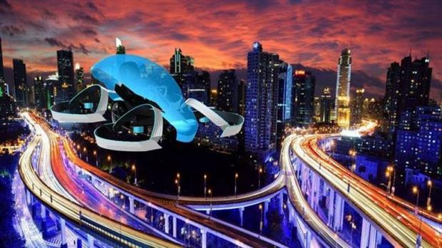 Una representación artística de SkyDrive, el vehículo aéreo de Cartivator, una start-up que recibió una inversión y apoyo técnico de Toyota