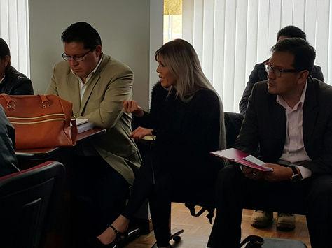 Gabriela Zapata, durante una de las audiencias del juicio que enfrenta. Foto: La Razón