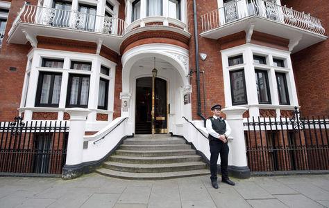 Vista de la embajada de Ecuador en Londres. Foto: Archivo EFE