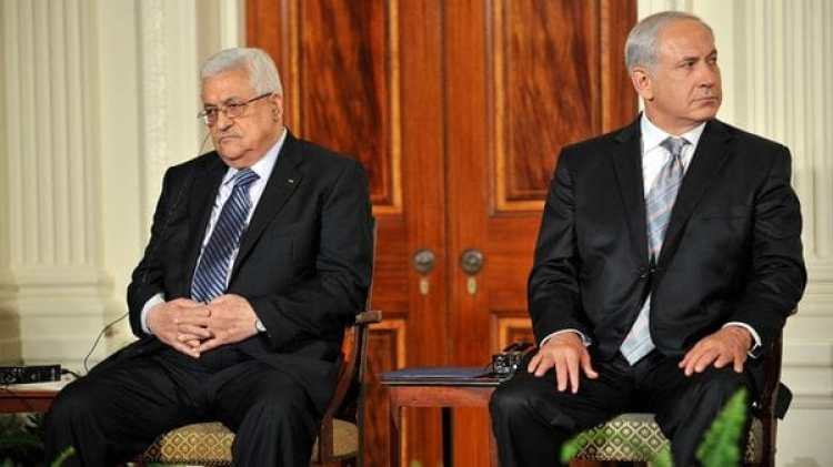 Mahmud Abbas y Benjamin Netanyahu (AFP)
