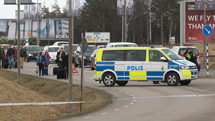 Evacuan un aeropuerto sueco tras encontrar rastros de una sustancia explosiva en una bolsa