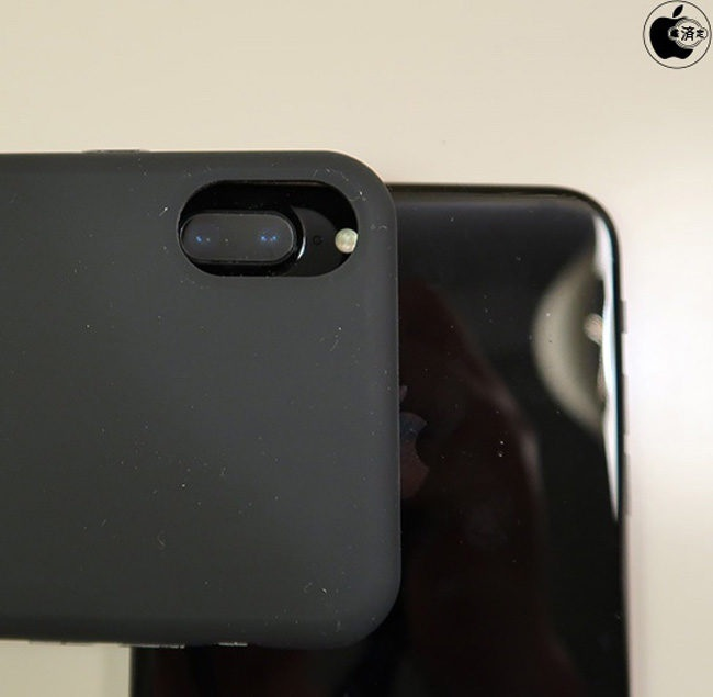 Cámara del iPhone 7 Plus con funda de iPhone 8