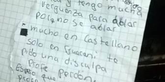 """""""Perdón profe, no sé hablar castellano, solo en guaraní"""""""