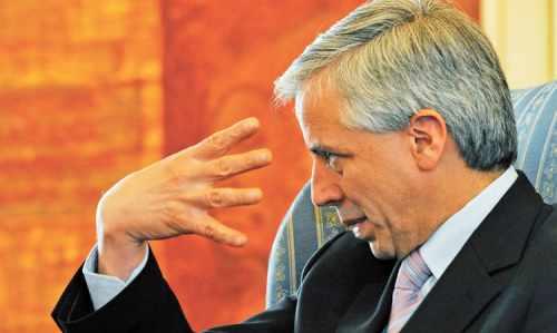 El vicepresidente Álvaro García Linera. Calificó de enemigos a empresarios y dijo neutralizarlos.