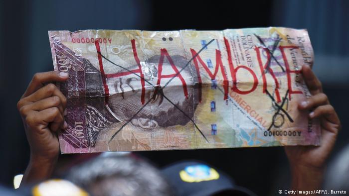 Symbolbild Venezuela Bolivar (Getty Images/AFP/J. Barreto)