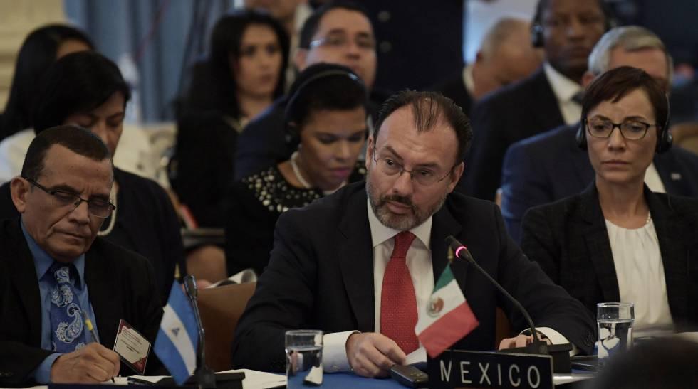 Luis Videgaray este miércoles en la OEA.