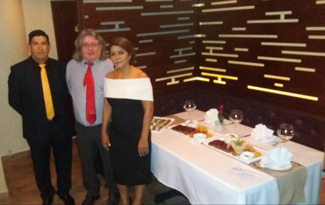 Jesús Cortez, Martin Maughan y Maritza Cortez