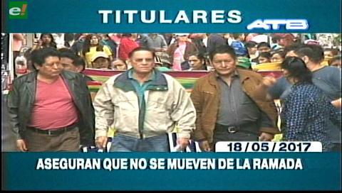 Video titulares de noticias de TV – Bolivia, mediodía del jueves 18 de mayo de 2017