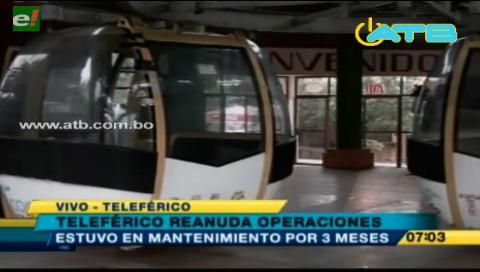 Teleférico de Cochabamba reanuda sus funciones