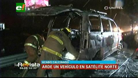 Vehículo se incendió en la zona de Satélite Norte