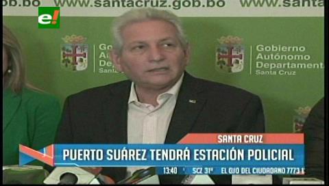 Rubén Costas anuncia construcción de la Estación Policial Integral en Puerto Suárez