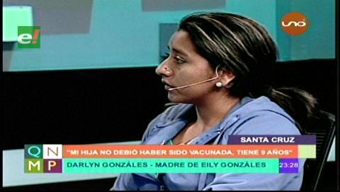 """""""Mi hija no debió ser vacunada contra el papiloma"""""""