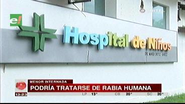 Médicos concluyen que posiblemente niña en coma tenga rabia humana