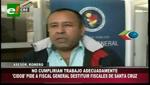 Cidob pide a Guerrero destituir a los fiscales de Santa Cruz