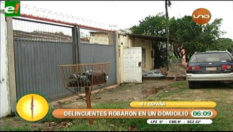 Dos sujetos atracaron armados en una vivienda del barrio España