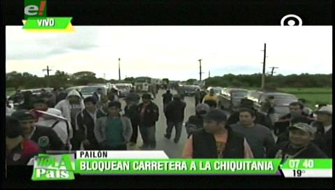 Ruta a la Chiquitanía está bloqueada en seis puntos