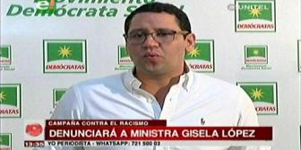 Diputado Monasterio presentará denuncia contra la ministra López por discriminación