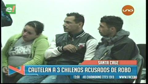Envían a Palmasola a tres chilenos acusados de robo