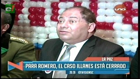 Para Carlos Romero el caso Illanes está cerrado