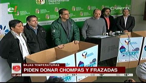 Gobernación cruceña lanza campaña para recolectar ropa de invierno para los más necesitados