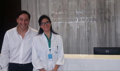 Pedro Escobar - Gerente del Plan salud y Dra. Amparo Hayes - Ginecóloga Obstetra