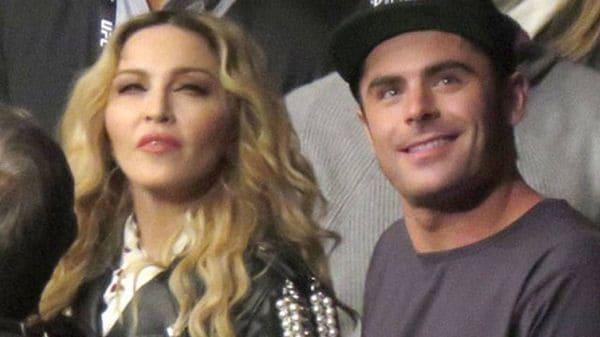 Zac Efron y Madonna en el Madison Square Garden de New York
