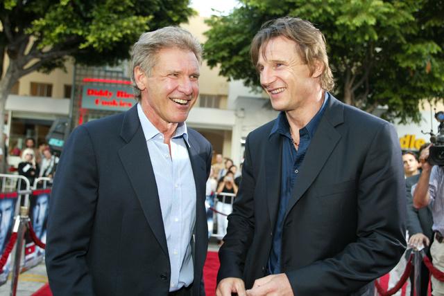 Harrison Ford y Liam Neeson, en 2012.