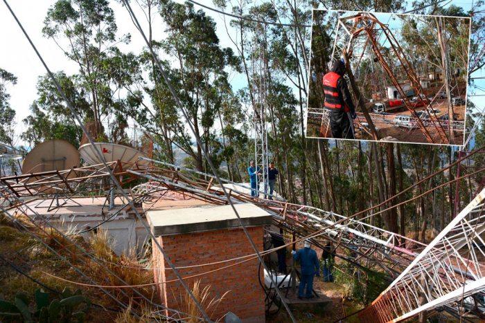Ráfagas de viento provocaron una serie de destrozos en varios sectores de Sucre, en especial en el cerro Sica Sica, la mayoría de los medios de comunicación radiales y televisivos quedaron sin señal.