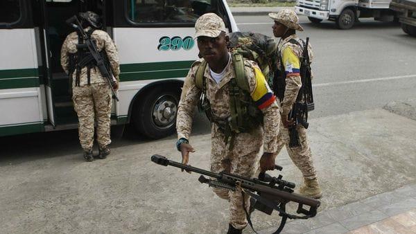 """Guerrilleros del Frente 30 """"Rafael Aguilera"""" de las FARC (EFE)"""