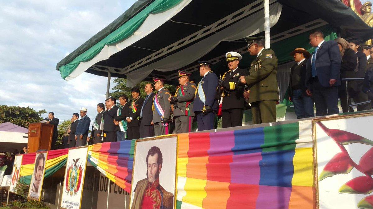 Evo rindió honores a los héroes bolivianos de la Guerra del Chaco