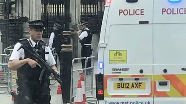 El incidente obligó a cerrar el portal de rejas del Palacio de Westminster, sede del Parlamento