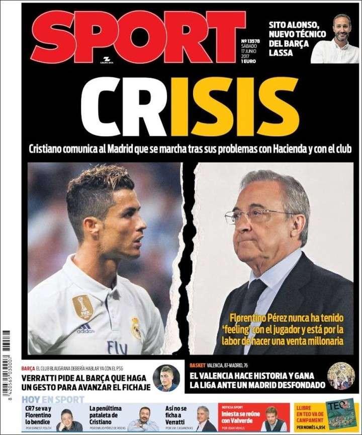 Una cifra astronómica detrás de la posible salida de Cristiano Ronaldo de Real Madrid