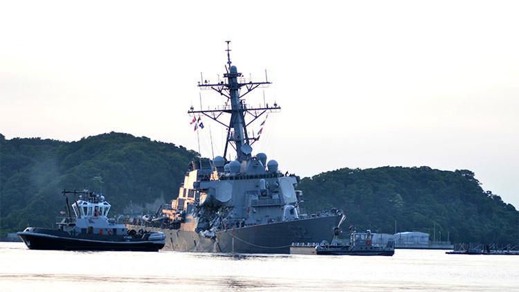 Hallan sin vida a los 7 marineros de EE.UU. desaparecidos en una colisión cerca de Japón