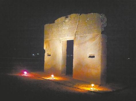 La puerta del sol en Tiwanaku.