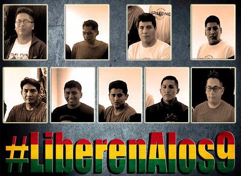 Éstos son los bolivianos detenidos en chile, que fueron expulsados hoy, tras la lectura de sus sentencia.