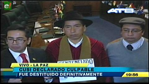 Tribunal declara culpable a Gualberto Cusi